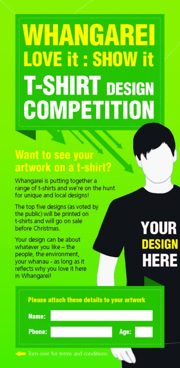 Whangarei t shirt design competition vince online for Start an online t shirt business at zero cost